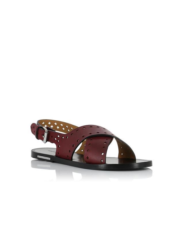 Isabel marant sandales en cuir malick bordeaux a27992