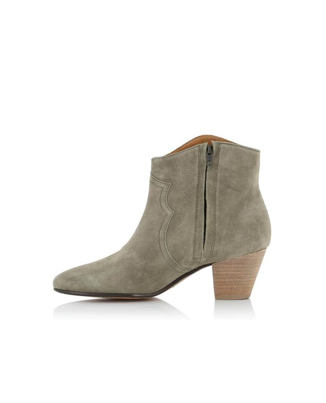 Isabel marant dicker suede ankle boots beige a28000