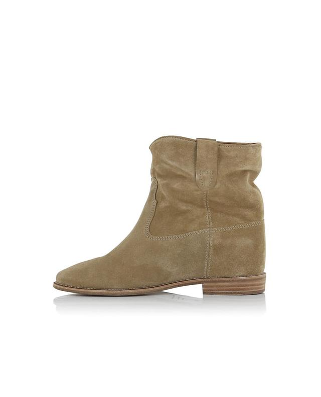 Isabel marant crisi suede wedge ankle boots beige a28003