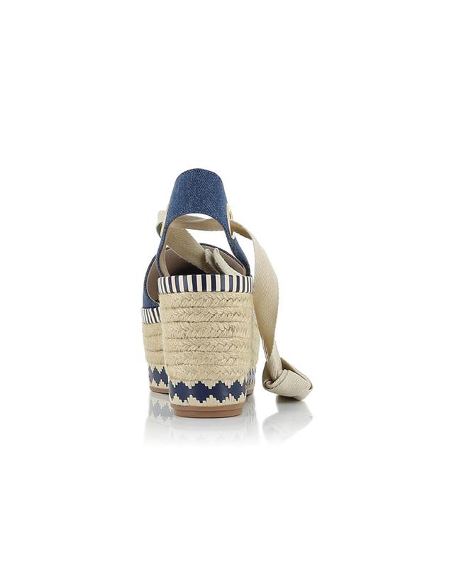 Tory burch espadrilles mit keilabsatz dandy blau A28490-JEAN