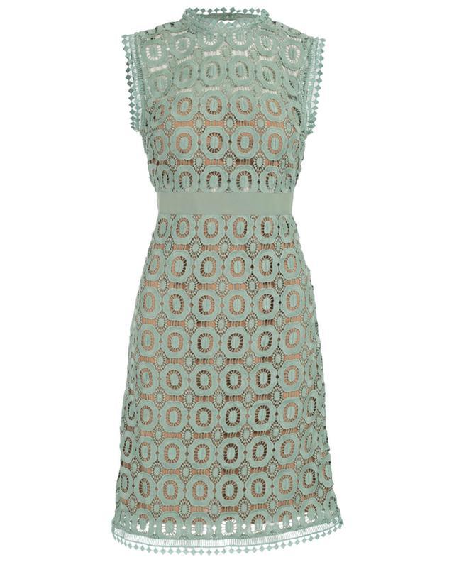 Essentiel robe sans manches en guipure vert A29389-VERT