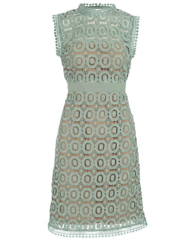 Essentiel guipure sleeveless dress green A29389-VERT