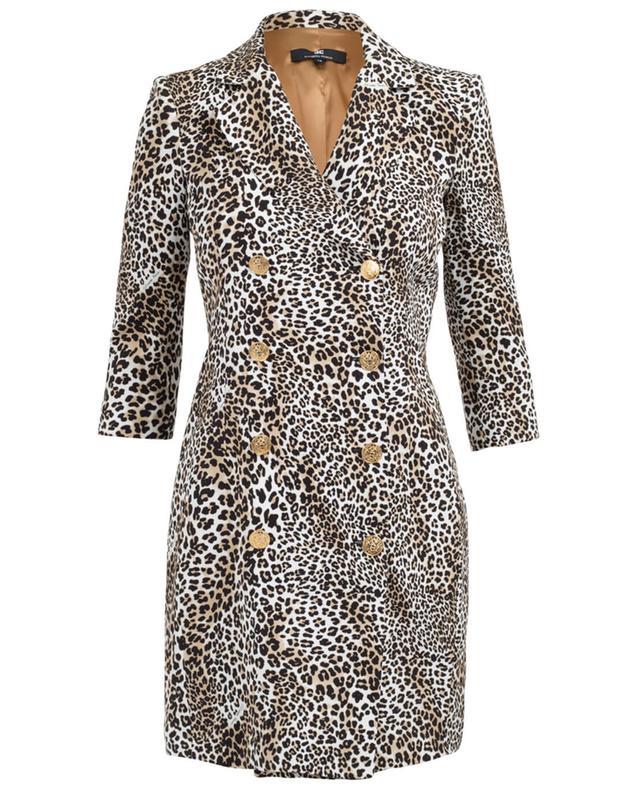 Elisabetta franchi mantel mit leoparden-print beige A29659-MULT
