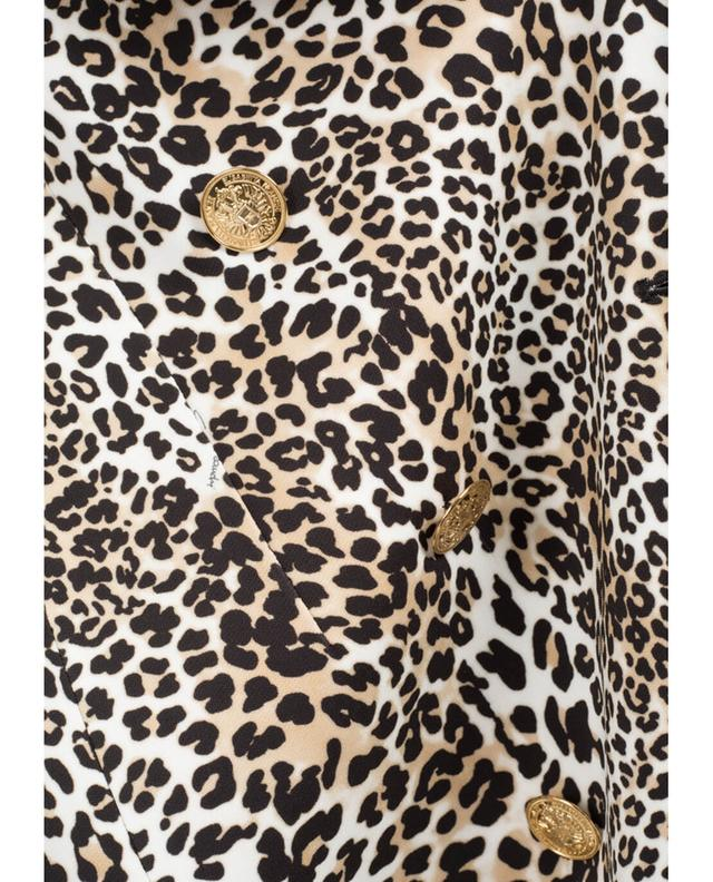 Elisabetta franchi leopard print coat beige A29659-MULT
