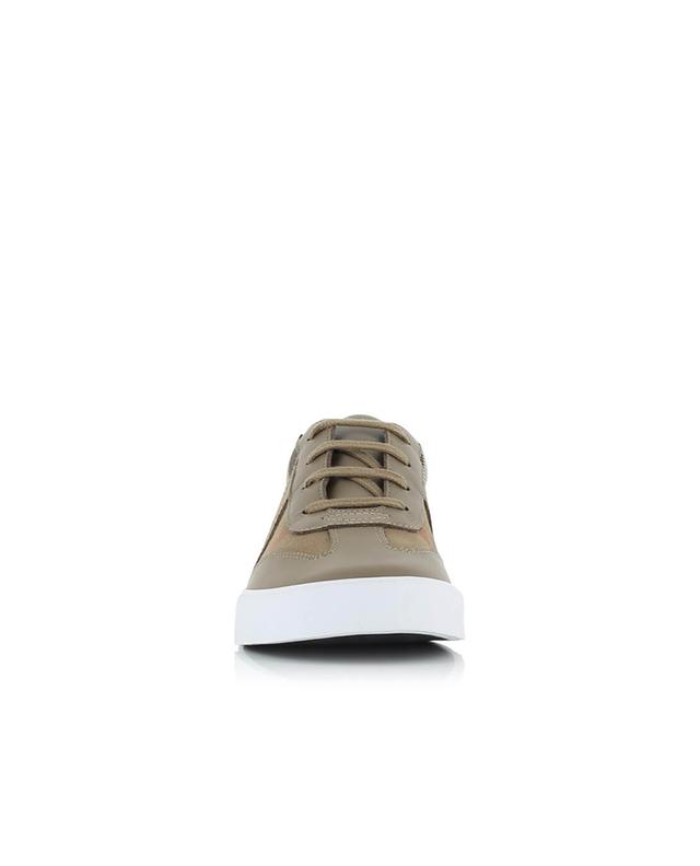 Cotton and leather trainers BURBERRY