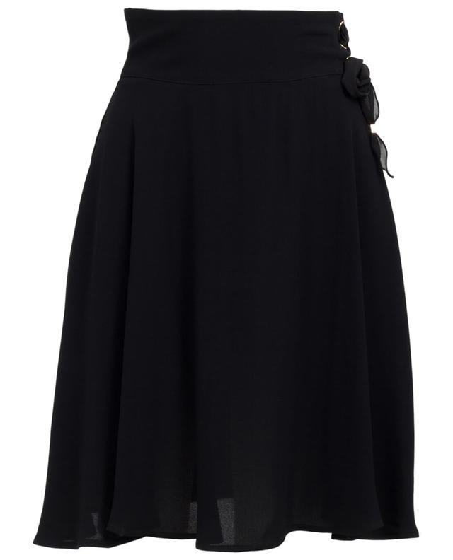 Elisabetta franchi viscose skirt black A29759-NOIR