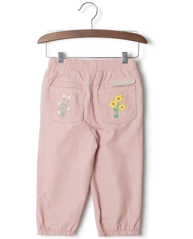 Pipkin cotton trousers with embroidered flowers STELLA MCCARTNEY