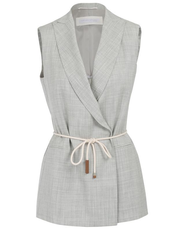 Fabiana filippi veste sans manches en laine mérinos gris A30008-GRISC