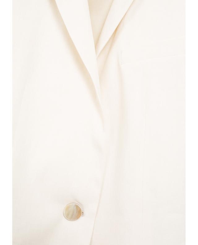 Fabiana filippi jacke aus leinen und baumwolle beige A30046-BEIG