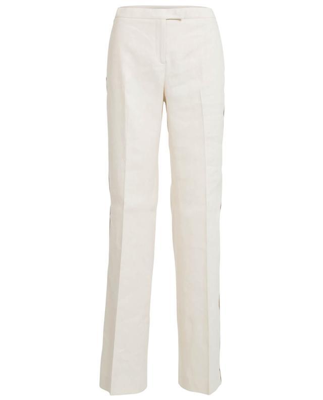 Fabiana filippi linen and cotton trousers beige A30047-BEIG
