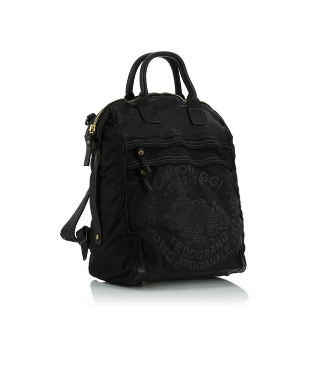Leather and nylon backpack CAMPOMAGGI