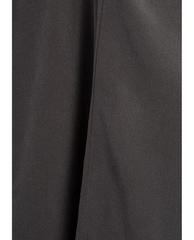 Sunday in bed pantalon en soie anthracite a30691