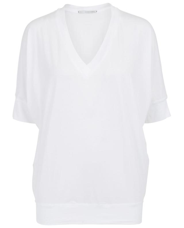 Sunday in bed coton and modal t-shirt white a30694
