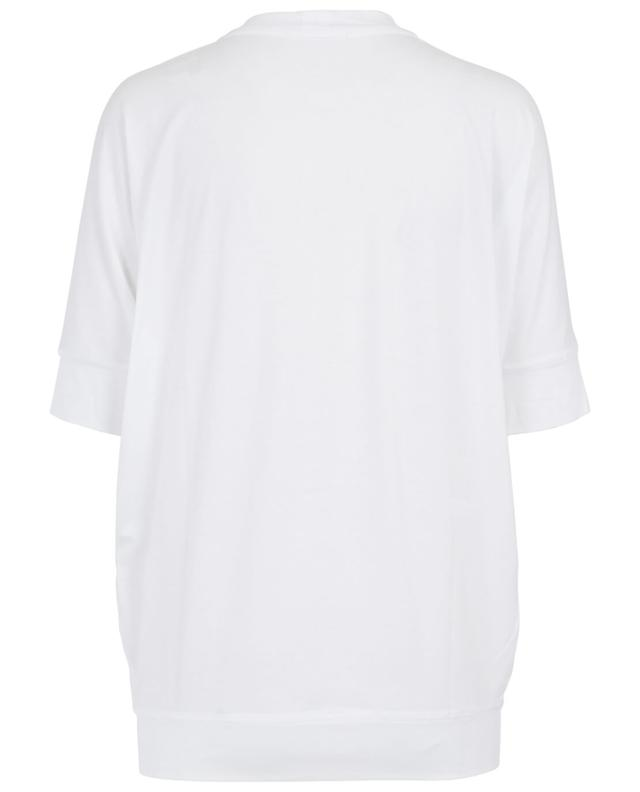 Sunday in bed t-shirt en coton et modal blanc a30694
