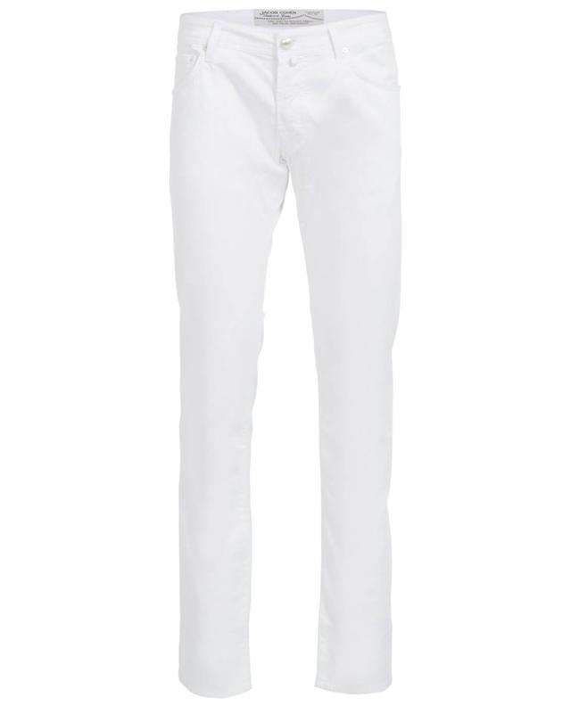 Jacob cohen pantalon slim en coton blanc a31399