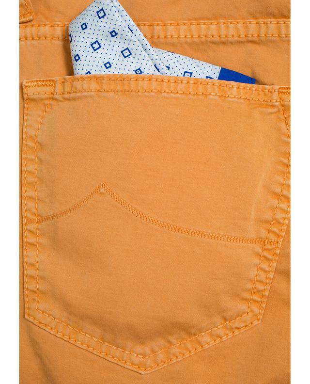 Jacob cohen pantalon slim en coton orange a31399