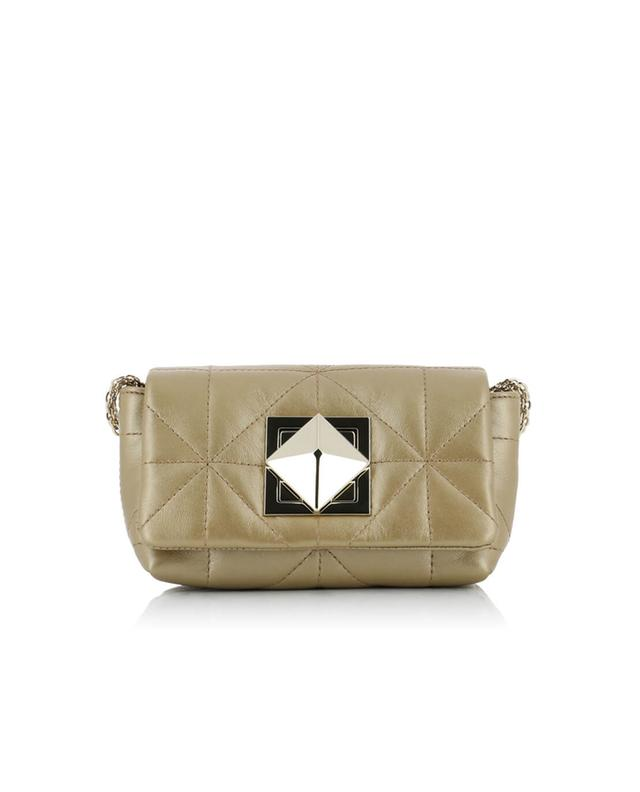 Sonia rykiel le copain quilted leather shoulder bag golden