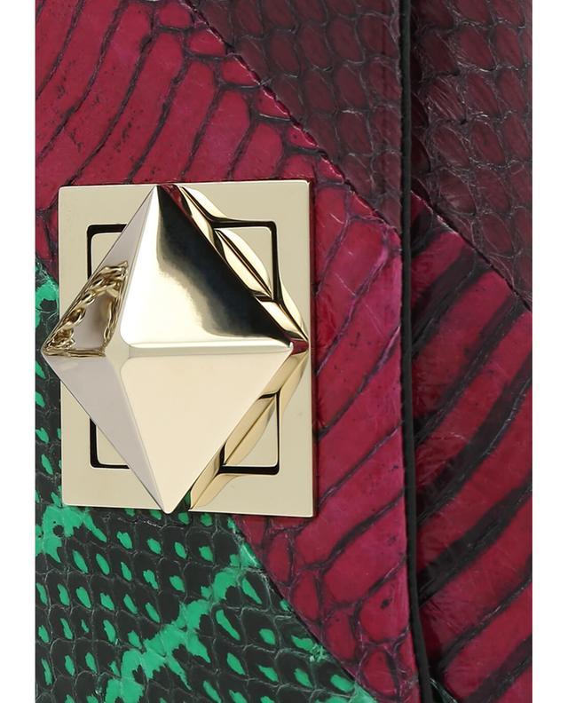 Sonia rykiel le copain leather croc-effect shoulder bag multicoloured1