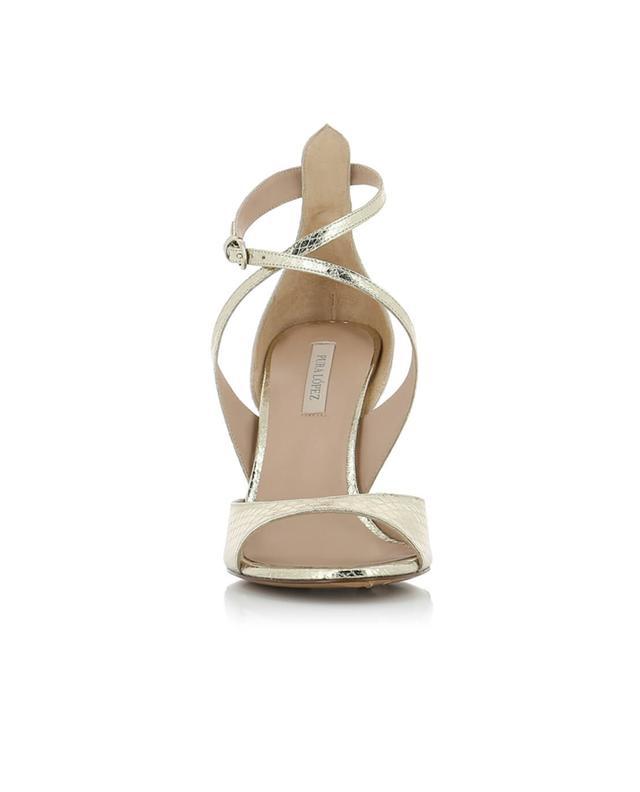 Sandales en cuir doré PURA LOPEZ