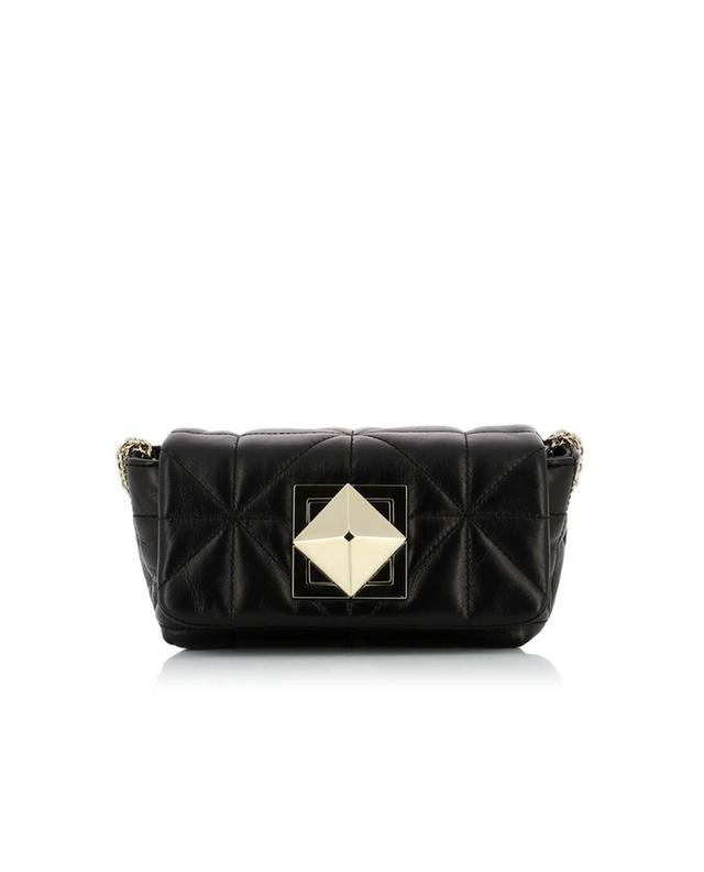 Sonia rykiel le copain quilted leather shoulder bag black