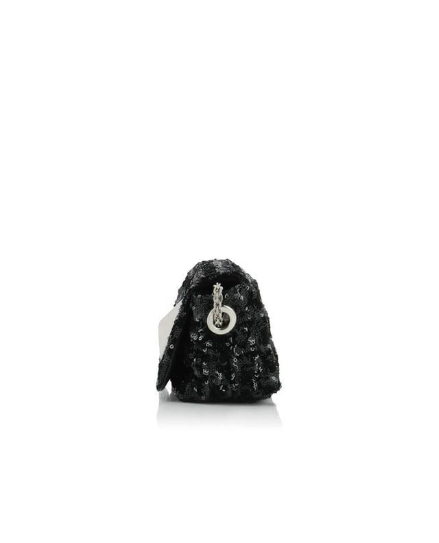 Sonia rykiel le copain leather shoulder bag black a32011