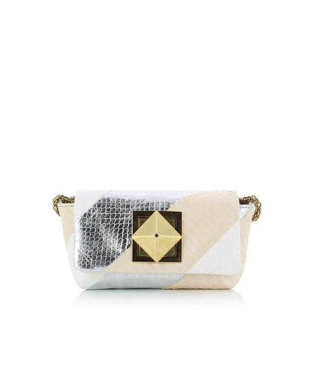 Sonia rykiel le copain water snake shoulder bag white a32012