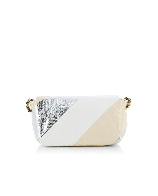 Sonia rykiel le copain water snake shoulder bag white a32012