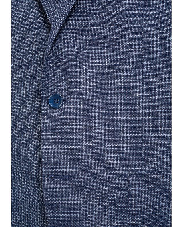 Napoli couture blazer en laine soie et lin marine A32078-BLEU