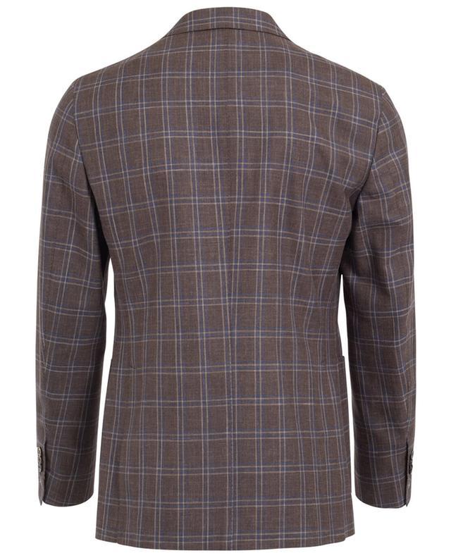 Napoli couture blazer en laine soie et lin marron A32079-MARR