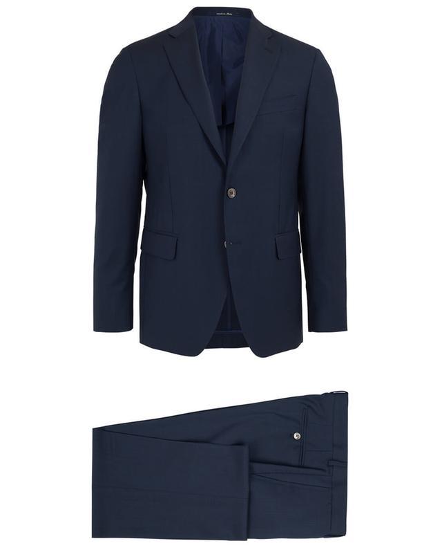 Napoli couture costume en laine et mohair marine A32082-BLEUF