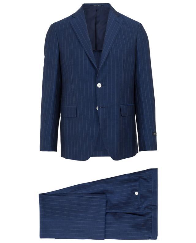 Napoli couture costume en laine et lin mélangés marine A32086-BLEU
