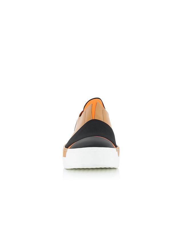 Slip-on aus gummiertem Leder und Stoff VIC MATIE