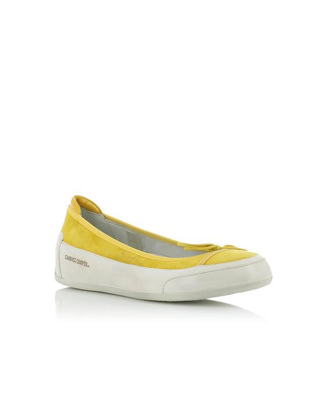 Candice cooper ballerines en cuir et daim jaune A32270-JAUN