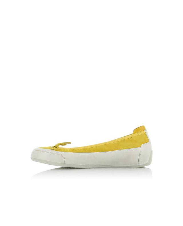 Candice cooper ballerinas aus wildleder und leder gelb A32270-JAUN