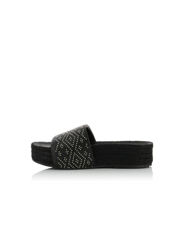 Paloma barcelo sandales en cuir et corde gilles noir A32317-NOIR