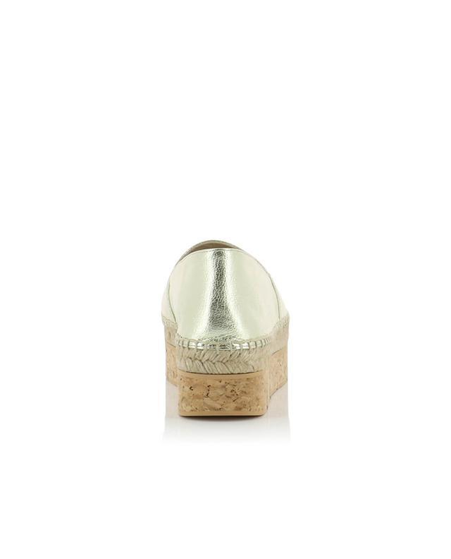 Paloma barcelo espadrilles en cuir métallisé limes dore A32318-DORE