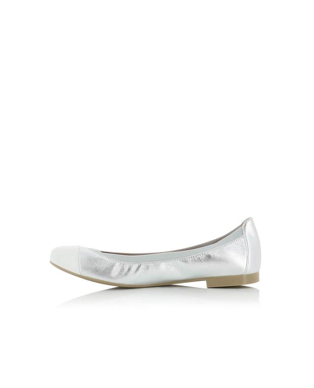 Pretty ballerinas shirley leather ballet flats white a32426