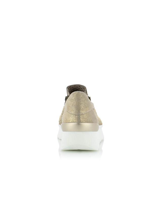 Fru.it sneakers aus schillerndem wildleder golden A32500-BEIG