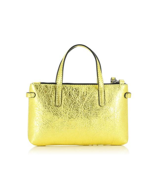 Gianni chiarini kleine ledertasche mit trageband gelb a32519