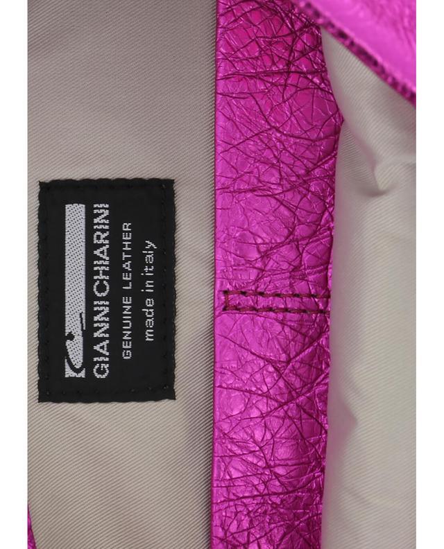 Gianni chiarini pochette en cuir métallisé rougefoncé a32520