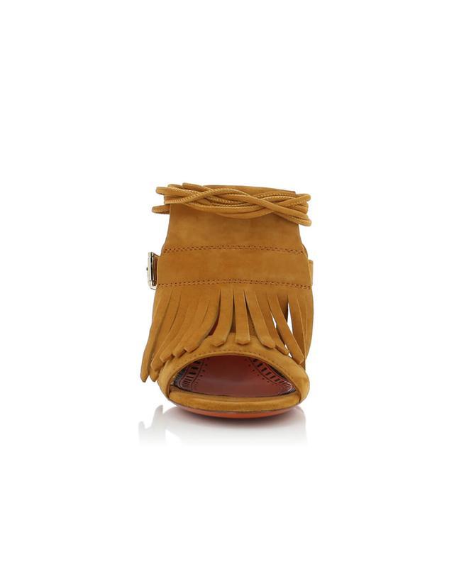 Heeled suede sandals SANTONI