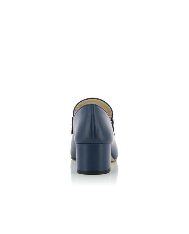 Joseph mocassins en cuir marine A32666-BLEU