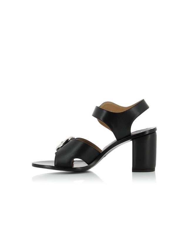 Joseph sandales en cuir à talon noir A32682-NOIR