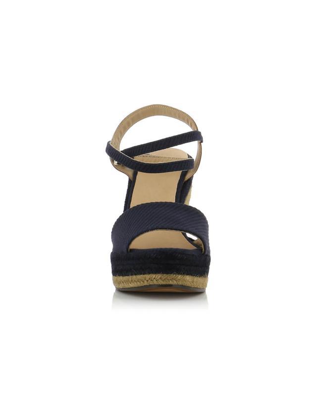 Sandales compensées en toile Adela CASTANER