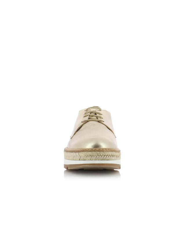 Iris metallic leather derbies CASTANER