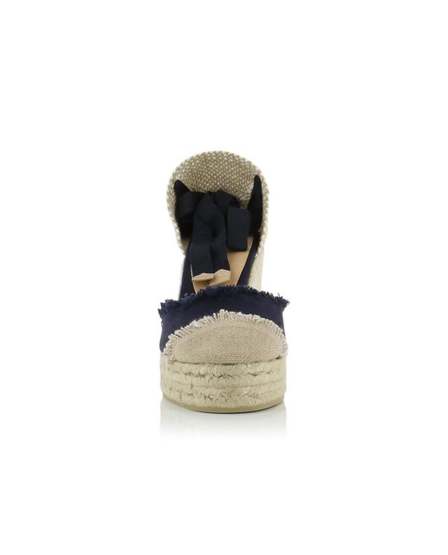 Catalina bicolour canvas wedge espadrilles CASTANER