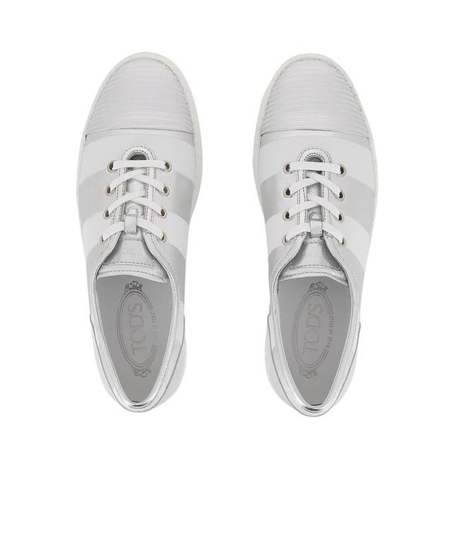 Tod's baskets en cuir rayé blanc A33430-BLAN