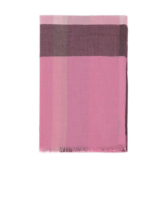 Burberry mega check modal and silk scarf pink a35004
