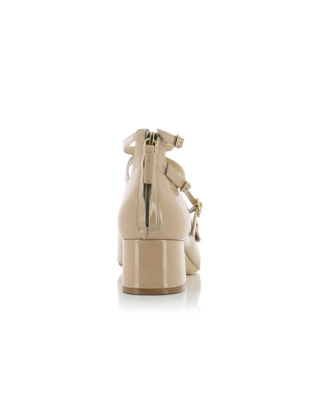Bon genie grieder patent leather pumps beige A35059-BEIG