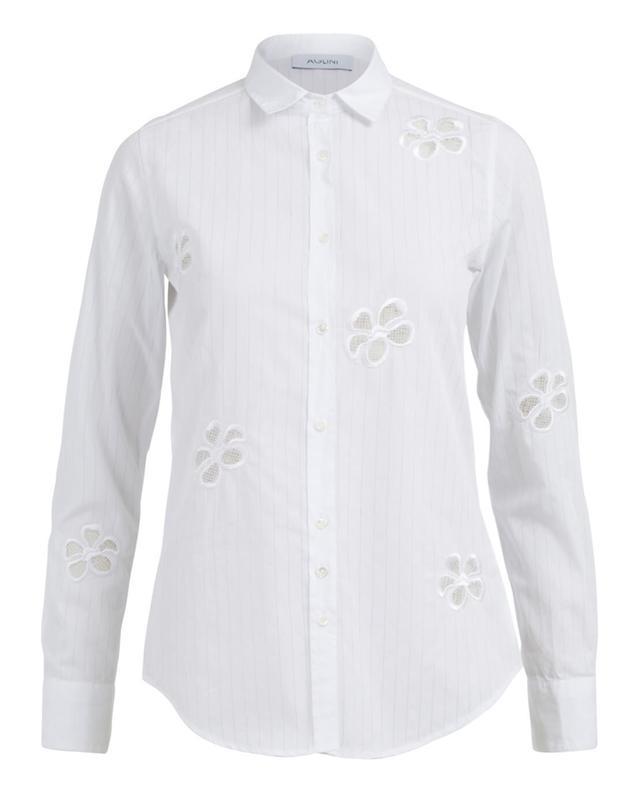 Aglini chemise en coton blanc A35384-BLAN